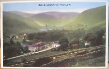 Irish Postcard Vale of GLENDALOUGH Wicklow Ireland Bray Musical Souvenir Co