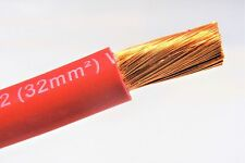 20' FT EXCELENE 2 AWG GAUGE WELDING & BATTERY CABLE  RED USA NEW COPPER