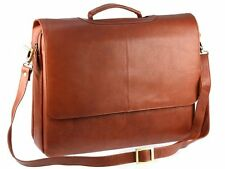 Visconti 658 Brown Leather Ladies Business Case Briefcase Shoulder Messenger Bag