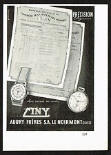 1940's Small Vintage 1946 Aubry Freres - Ciny Watch Co. - Paper Print AD