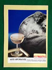 (AB20) Pubblicità Advertising Ads Werbung ASTI SPUMANTE VINO MOSCATO
