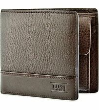 "New Designer Hugo Boss ""Aspen_Trifold"" Wallet 50322175 Brown"