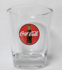 Coca-Cola Round Logo on Clear Shot Glass