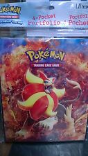Pokemon XY Flashfire Pyroar 4 Pocket Page Portfolio Album Binder trading cards