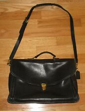 Vintage Coach Letherware Black leather Briefcase Bag # 0746-323