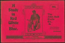 Rare Vintage 1900 John Bull  Cycles catalogue brochure*