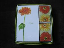 Vintage DESIGN Boxed Bridge Gift Set ~ Gerbera Daisy ~ Factory Sealed