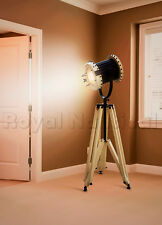 Designer Nautical Wooden Handmade Spotlight/Searchlight Tripod Floor Lamp