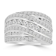 2.10 ct Ladies Round Cut Diamond Anniversary Ring in Prong Setting 14 kt Gold