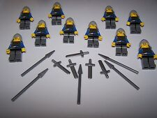 LEGO® CASTLE minifigure 10 LION CROWN TORSO sword spear weapon helmet knight lot