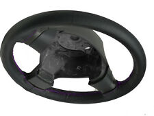REAL PERFORATED LEATHER STEERING WHEEL COVER PURPLE STITCH FOR MITSUBISHI COLT 5
