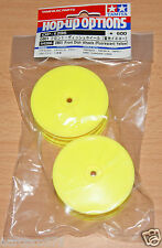 Tamiya 54286 DB01 Front Dish Wheels (Fluorescent Yellow) (TRF511/TRF503/DB02)