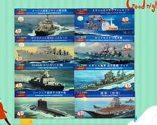 8in1 1:700-1700 ship Series Battleship PVC Plastic 4D Model Kit NEW!