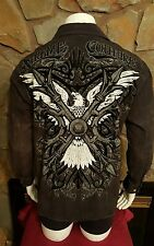 Xtreme Couture By Affliction Long Sleeve Mens Black Button Shirt Size Large