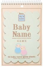 Baby Shower BABY NAME Game Sheets - Darice - Brand New Sealed!!!