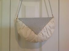 New White Metal Mesh Patented Leather Bag