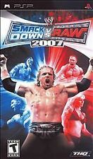 WWE SmackDown vs. Raw 2007 UMD PSP W/CASE GAME SONY PLAYSTATION PORTABLE 2K7 07