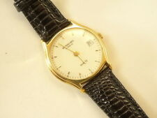 Raymond Weil Model 5801 Ladies 18k Gold EP Quartz Date Watch White Dial