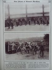 1917 WOMEN'S WAR WORK GAS WORKS PAINTING AND CYCLING FORESTERS WWI WW1