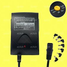 800mA Multi-Voltage 3V-5V-6V-9V-12V-15V Regulated AC/DC Switching Power Supply