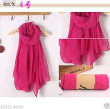 Rose Lady Women Long Soft Cotton Scarf Wrap Shawl Scarves Stole Thicken Cheap