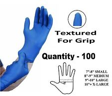100 x LARGE Tough Blue Nitrile STRONG Tatoo Mechanic Disposable Gloves L
