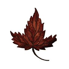 ID 7160 Maple Tree Leaf Autumn Fall Nature Embroidered Iron On Applique Patch