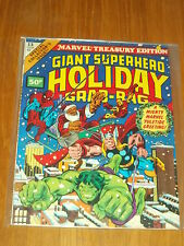 MARVEL TREASURY EDITION #13 FN (6.0) GIANT SUPERHERO HOLIDAY GRAB-BAG 1976 UK