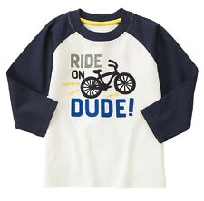 NEW Gymboree Baby Toddler Boys 18-24 mos Bicycle Cotton Long Sleeve Shirt