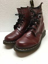 Dr. Martens 1460 Cherry Red Leather Combat Boot Women's Size 10 M