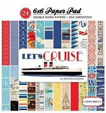 """CARTA BELLA """"LET'S CRUISE"""" 6X6 PAPER PAD TRAVEL SHIP VACATION SCRAPJACK'S PLACE"""