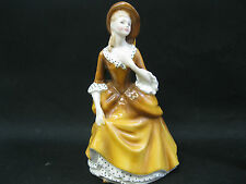 Royal Doulton Figurine SANDRA ~ H N 2275 Bone China Lady Figure~MINT