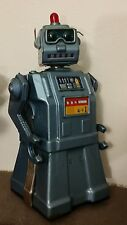 "Vintage 1950s YONEZAWA 11"" Directional Robot Battery Operated Tin Toy - WORKS"
