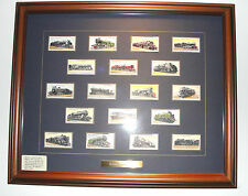 1936 Wills Cigarettes English Tobacco Cards Railway Engines Issued 1936 Framed