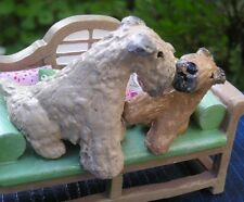 New listing Soft Coated Wheaten Terrier Adult & Puppy Garden Bench!