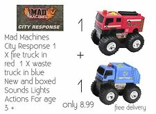 Kids Toy Fire Truck & Waste Truck With Sounds Only 8.99 Free Delivery