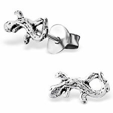 childrens 925 Sterling Silver Funky Lizard ear stud Earrings cute kitsch boxed