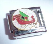 Navidad Trineo encanto italiano-Santa Trineo N197 9mm se adapta Classic pulseras
