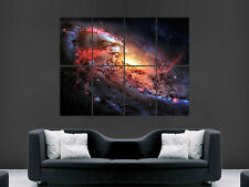 FIERY GALAXY SPACE IMAGE  WALL LARGE PICTURE POSTER GIANT