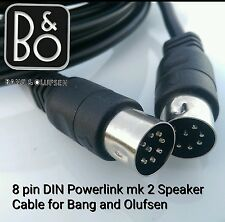 BeoLab 8 pin din large mk 2 Speaker Cable lead for Bang & Olufsen B&O 8 meters