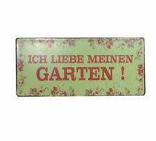 """Lafinesse Metallschild """"Ich liebe meinen Garten"""" Dekoschild Gartenschild"""