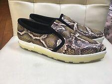 JIMMY CHOO Brooklyn Snakeskin Leather Pointy Toe SKATE SNEAKERS Flat Shoe 38.5