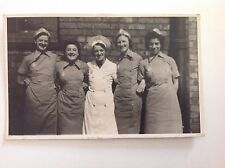 Victorian Group Of Nurses In Uniform Vintage RP Antique Postcard Original