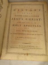 HISTORY of JESUS CHRIST 1784 ANTIQUE BOOK