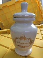 Vintage Eli Lilly Mandragora NUMBERED Apothecary Ceramic Jar Vase Urn Pharmacist