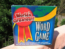World's Greatest Word Game Boxed Family Game By Algonquin Games~New & Sealed!