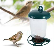 Wild Bird Feeder Garden Glass Window Hanging Suction Cup Automatic Seeds Feed
