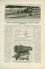 1919 Magazine Article Le Pere Biplane with Supercharger Liberty Motor Record