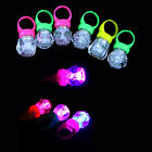 10/40pcs FINGER LIGHT UP RING LED RAVE PARTY FAVORS GLOW BEAMS