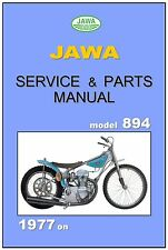 JAWA ESO Workshop & Parts Manual Speedway 894 4V 1977 on Service Repair 895